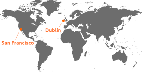 Viddyad offices in San Francisco, USA and Dublin, Ireland