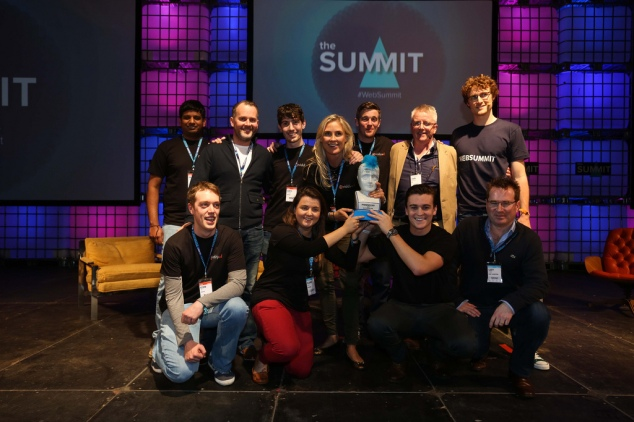 Web Summit 2013 - Viddyad team with Spark of Genius award