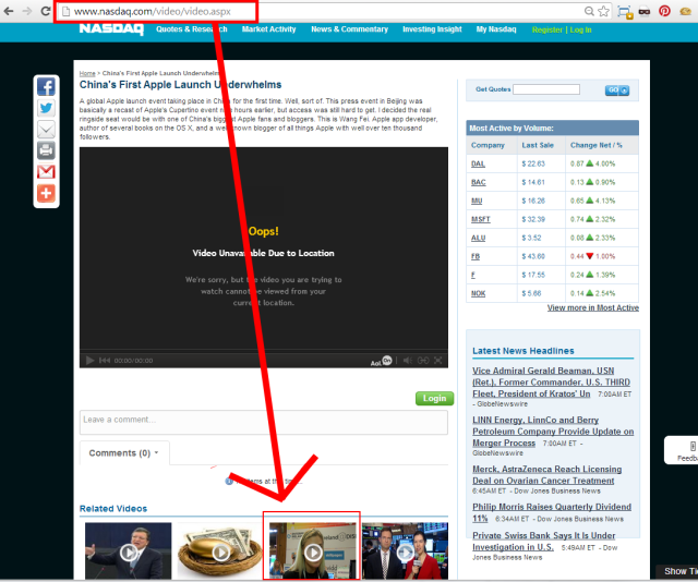 Nasdaq.com video home
