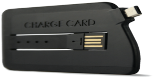 Charge card side view