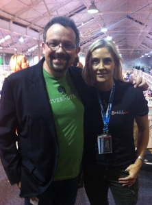 Grainne Barron with CEO of Evernote Phil Libin