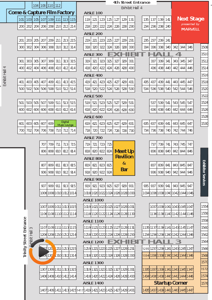 Map of SXSW with Viddyad logo