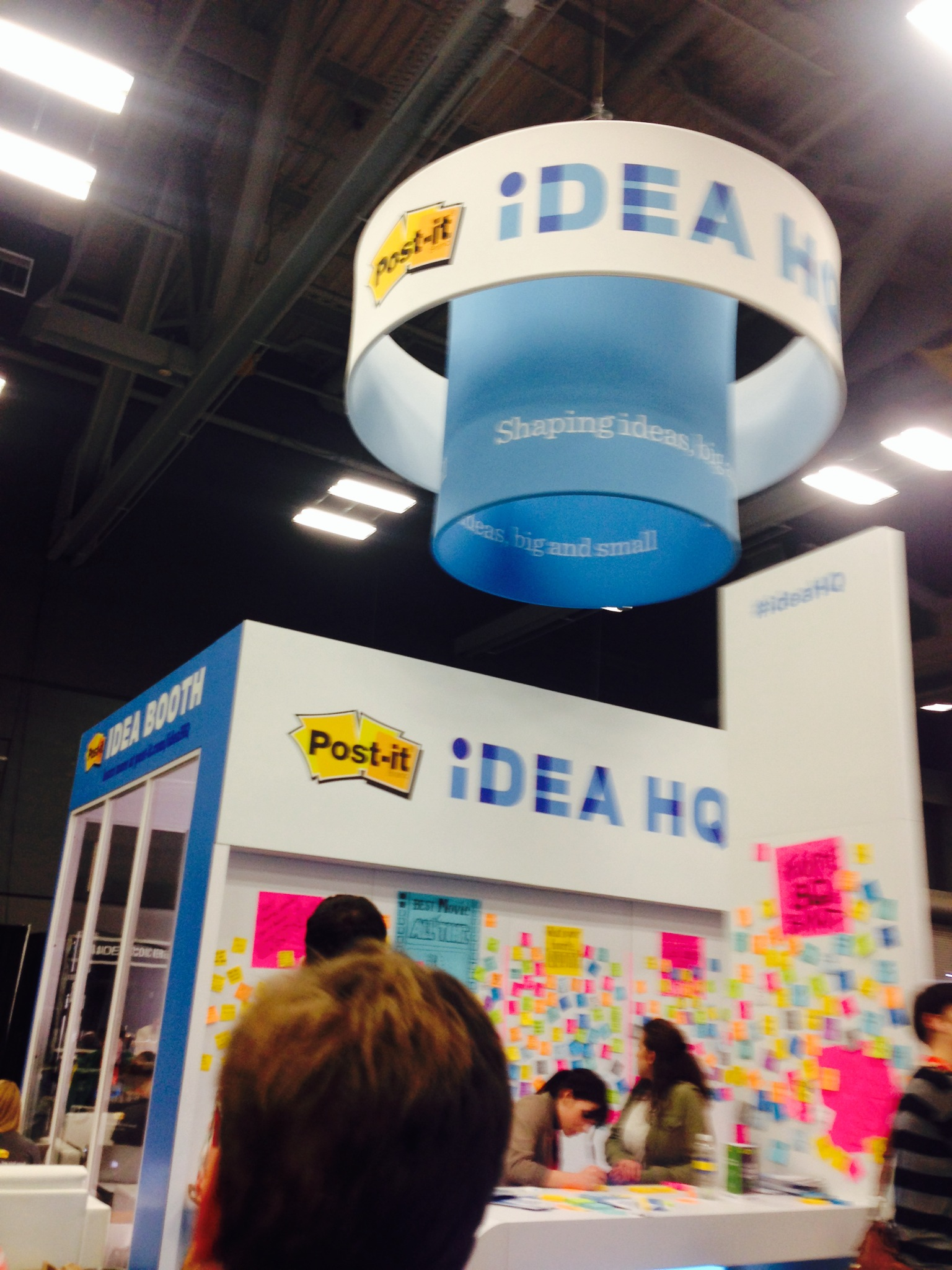 One of the largest exhibitions by Post- It. They even had an Idea HQ