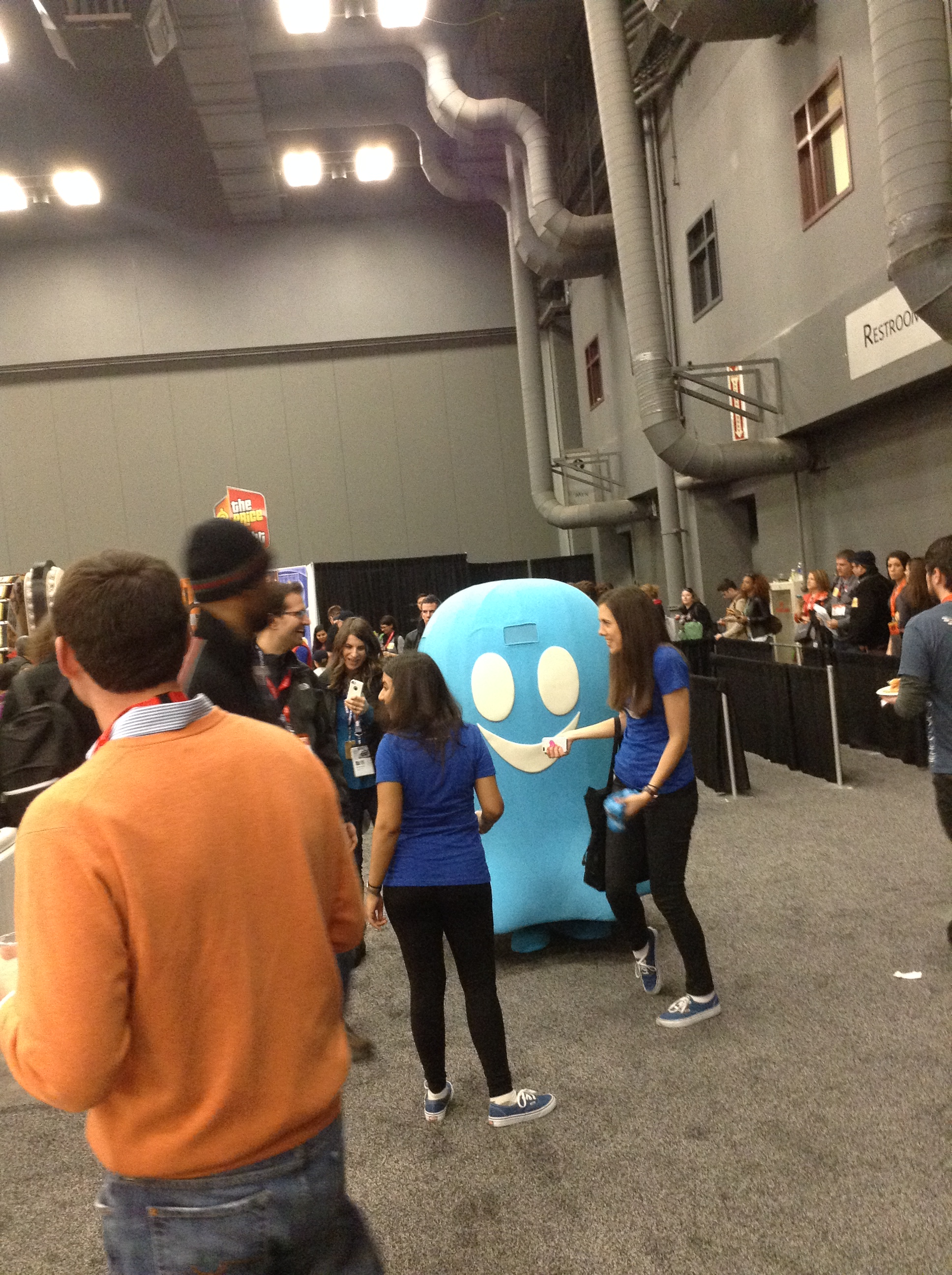 Ghostery made an impact with their stress ball give aways.