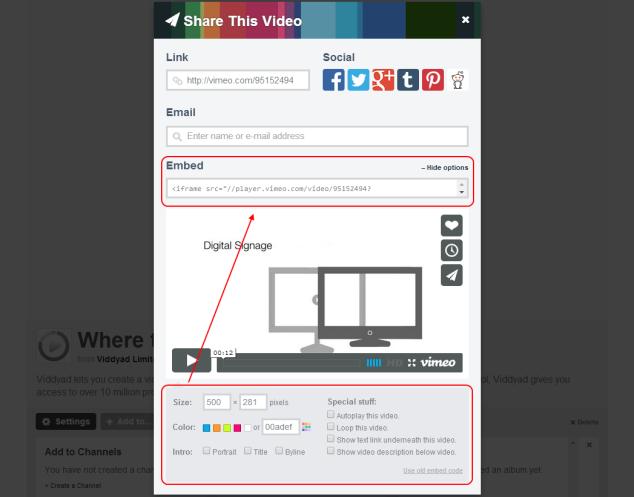 vimeo embed code