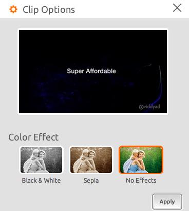 Clip Options on Viddyad