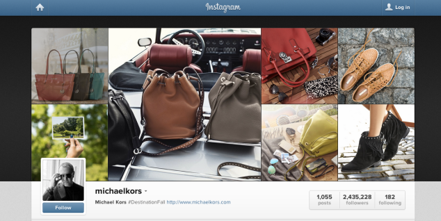 Michael Kors Instagram profile
