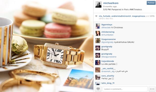 Michael Kors instagram ad