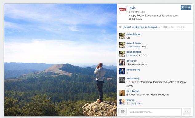 Levi's Instagram ad