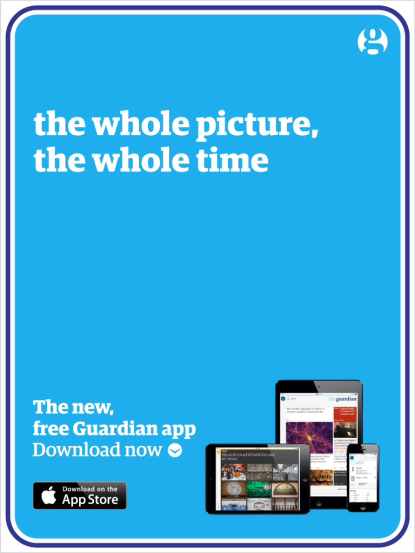 Guardian Flipboard ad