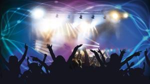 Tech launch event people dancing club concert